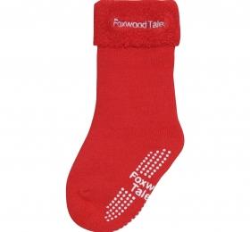 保暖透氣毛巾長筒襪-紅