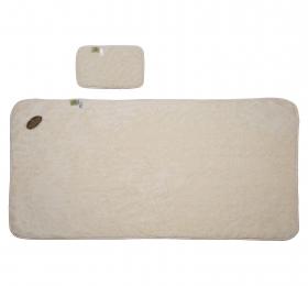 超細纖維加大浴毯(附擦髮巾)
