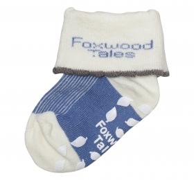 反折直紋抗菌襪-藍