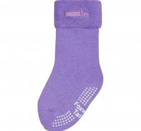 保暖透氣毛巾長筒襪-紫