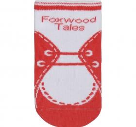 鞋型短筒襪-紅