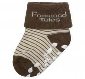 反折橫紋抗菌襪-咖
