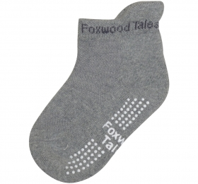保暖透氣毛巾短筒襪-灰