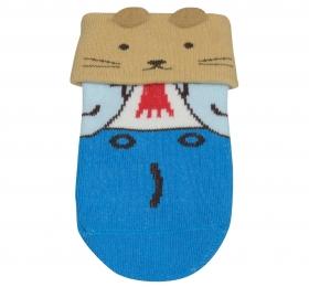 哈維鼠造型短筒襪-藍