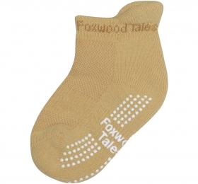 保暖透氣毛巾短筒襪-咖