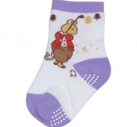 高爾夫短筒襪-紫