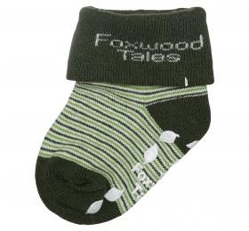 反折橫紋抗菌襪-綠