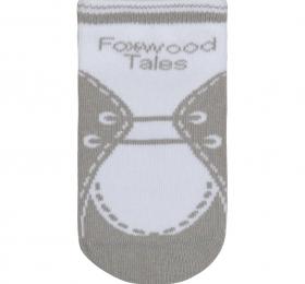 鞋型短筒襪-灰